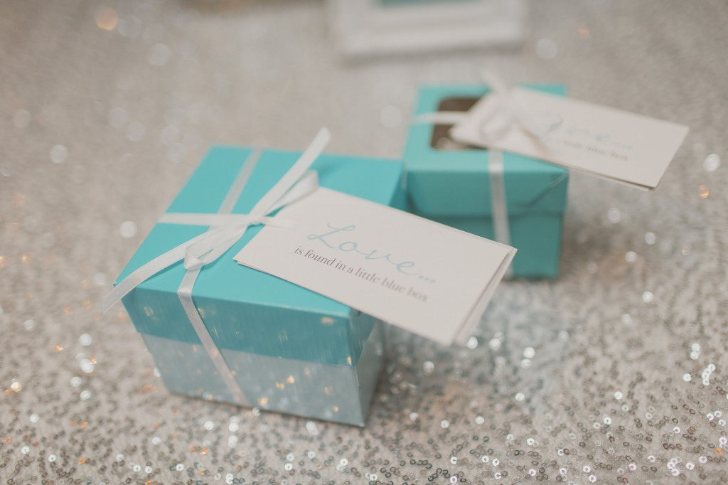 Tiffany Inspired Favour Boxes Rebecca Chan Weddings And