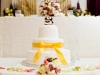 Wedding cake with custom topper