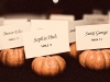 Fall-themed escort cards