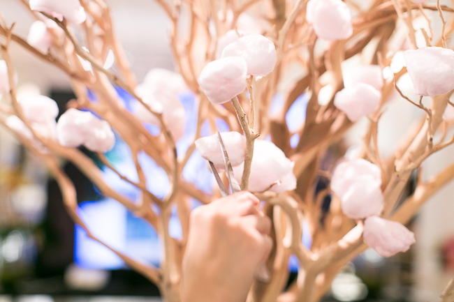 Interactive cotton candy tree