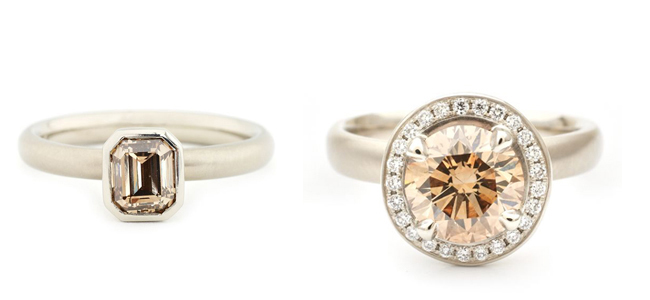Anne Sportun Cognac Diamond Engagement Rings