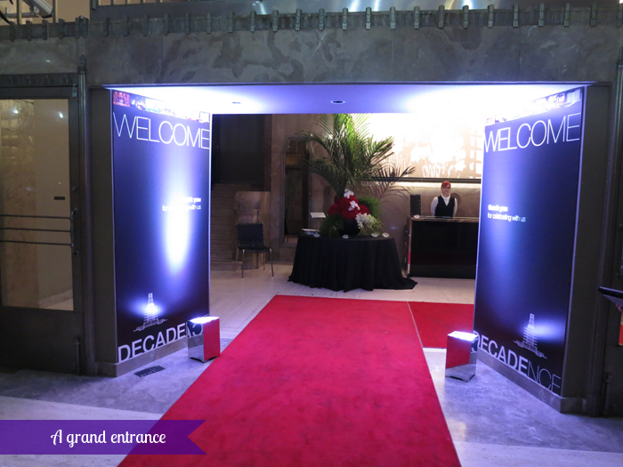 The Carlu, Decadence gala - Grand entrance