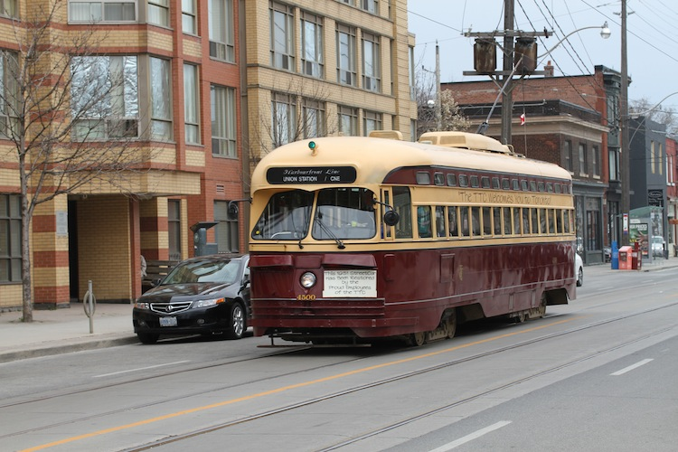 Wedding Day Transportation - Vintage TTC Street car
