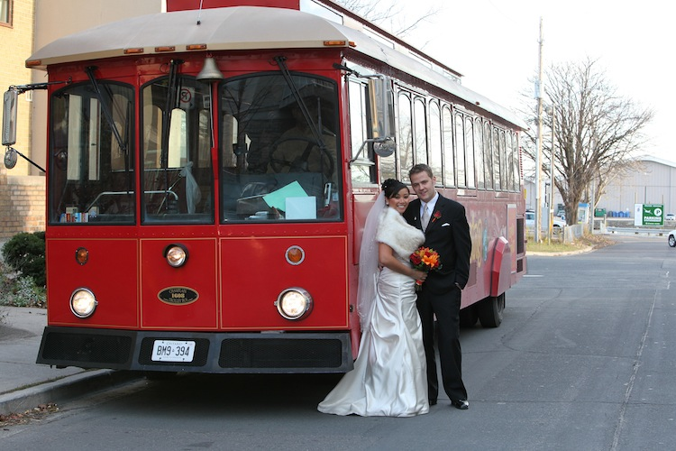 Wedding Day Transportation - Trolley