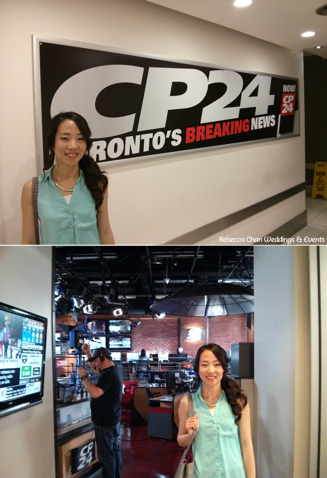 Behind the scenes on CP24