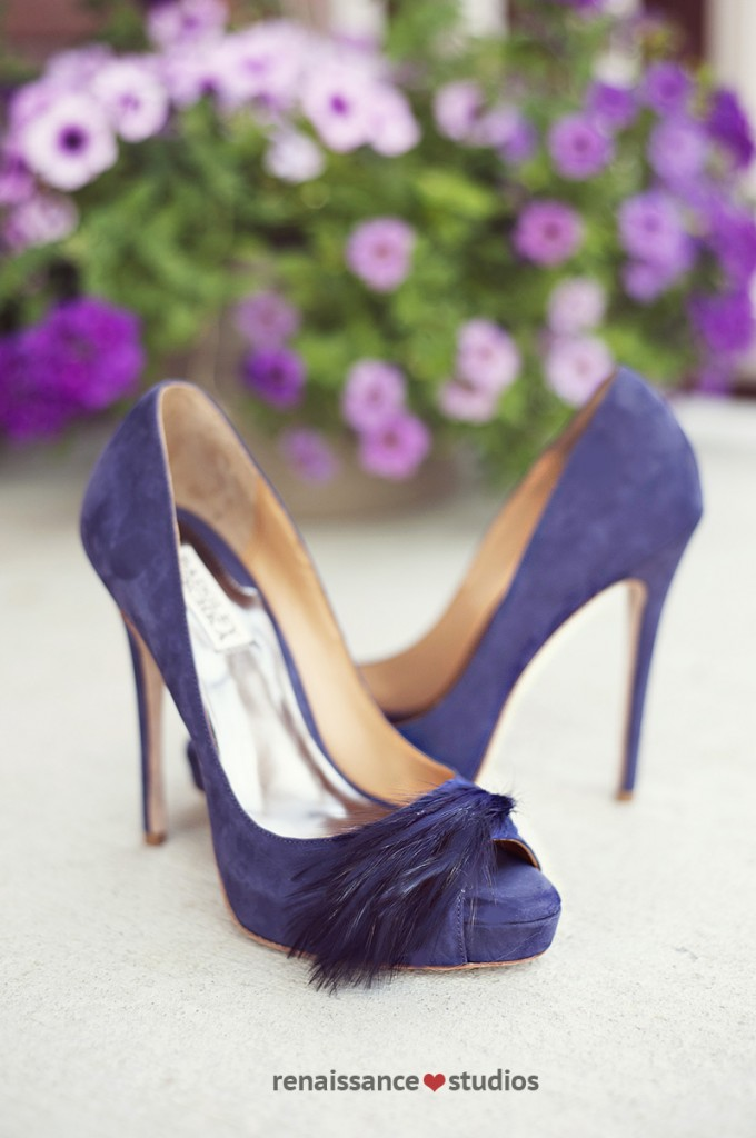 DIY Handmade wedding - Badgley Mischka heels. www.rebeccachan.ca