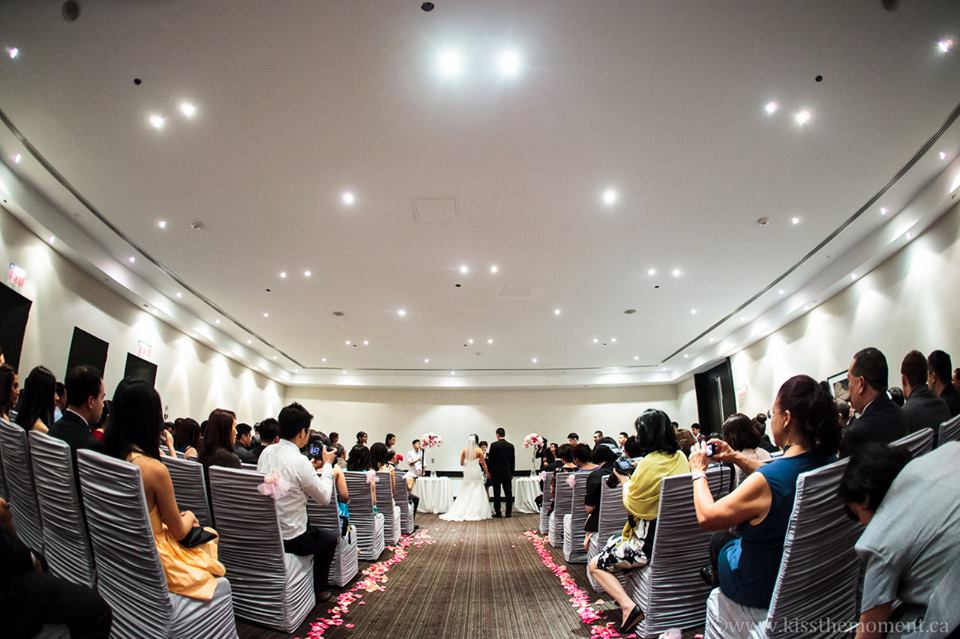Wedding ceremony at the Westin Prince Hotel Toronto