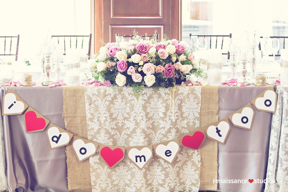 Luxury wedding with lace and burlap. www.rebeccachan.ca