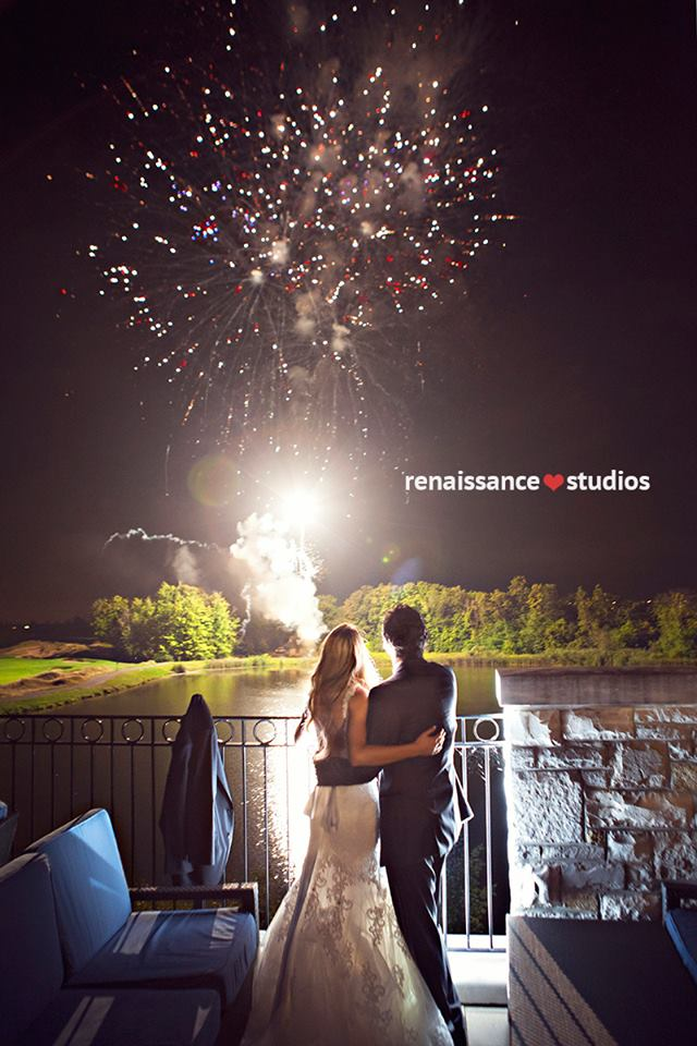 End off the night with a bang! Fireworks at Eagles Nest Golf Club, Ontario. www.rebeccachan.ca