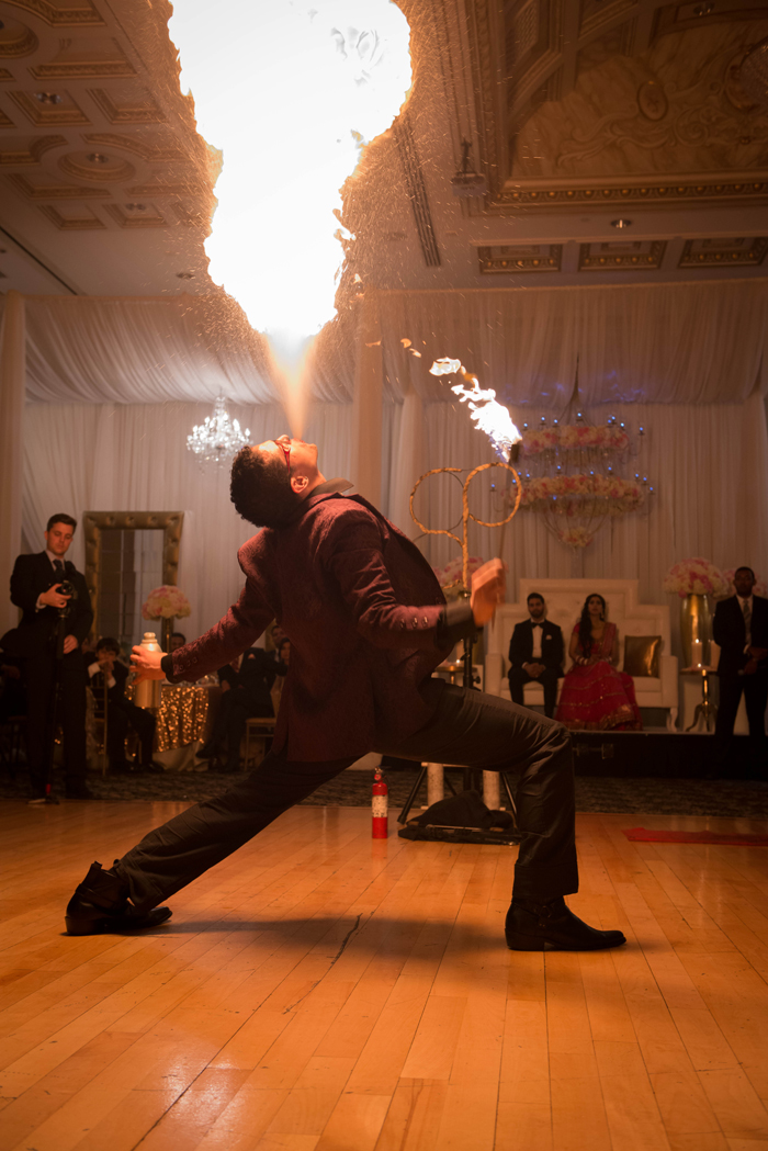 Fire performance at Romantic Indian Fusion wedding. See more at Rebecca Chan Weddings and Events http://www.rebeccachan.ca