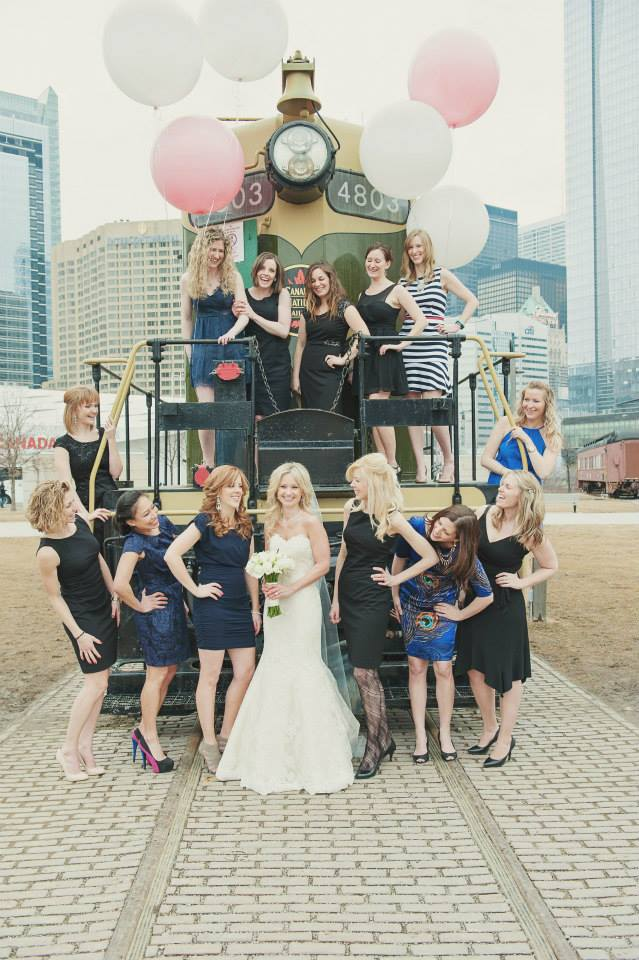 Wedding at the Steam Whistle Brewery, Toronto. See more at Rebecca Chan Weddings and Events http://www.rebeccachan.ca