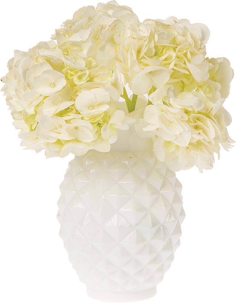 Ruffled Pineapple milk glass vase
