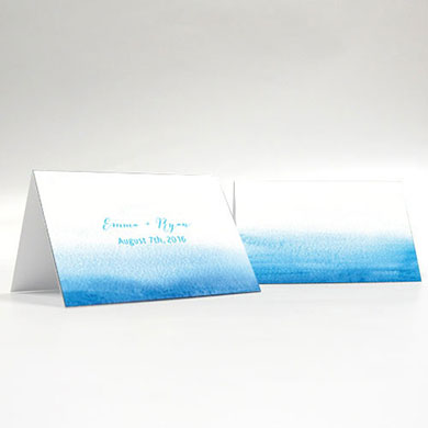 Ombre water color place card