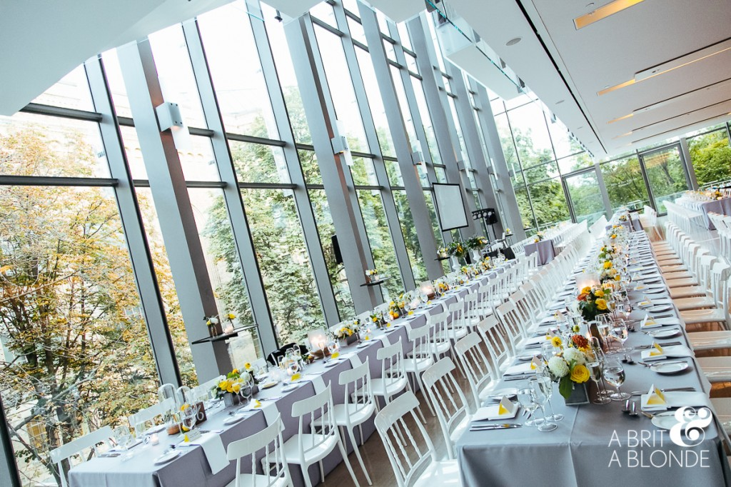Modern wedding at Royal Conservatory of Music