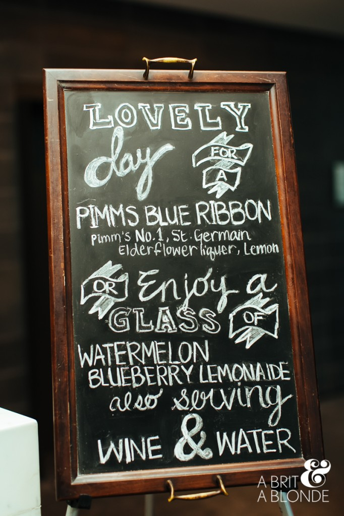 Wedding custom signature drink menu