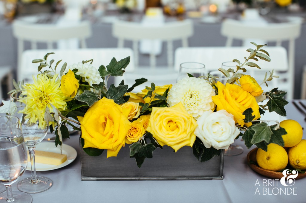 Eclectic wedding floral arrangement