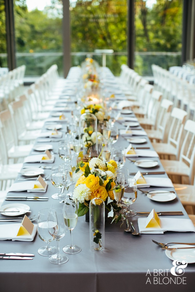 Modern yellow wedding at Royal Conservatory of Music