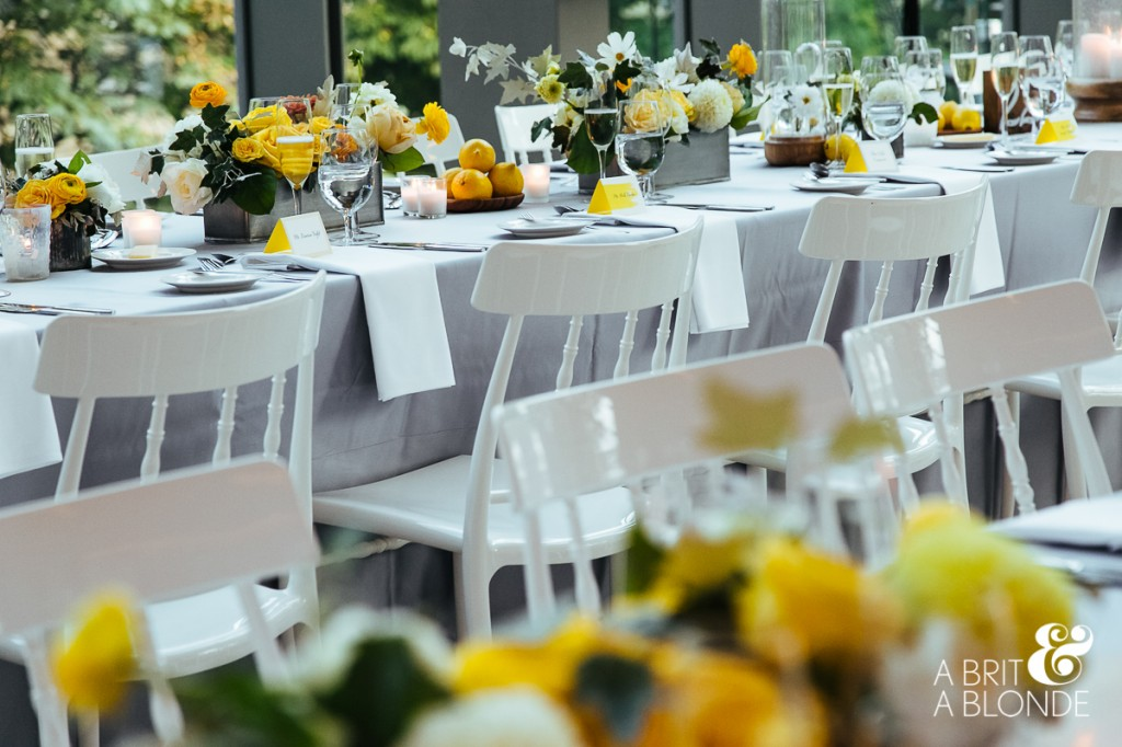 Yellow and modern wedding at Royal Conservatory of Music