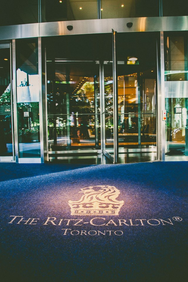 Ritz-Carlton Toronto wedding entrance