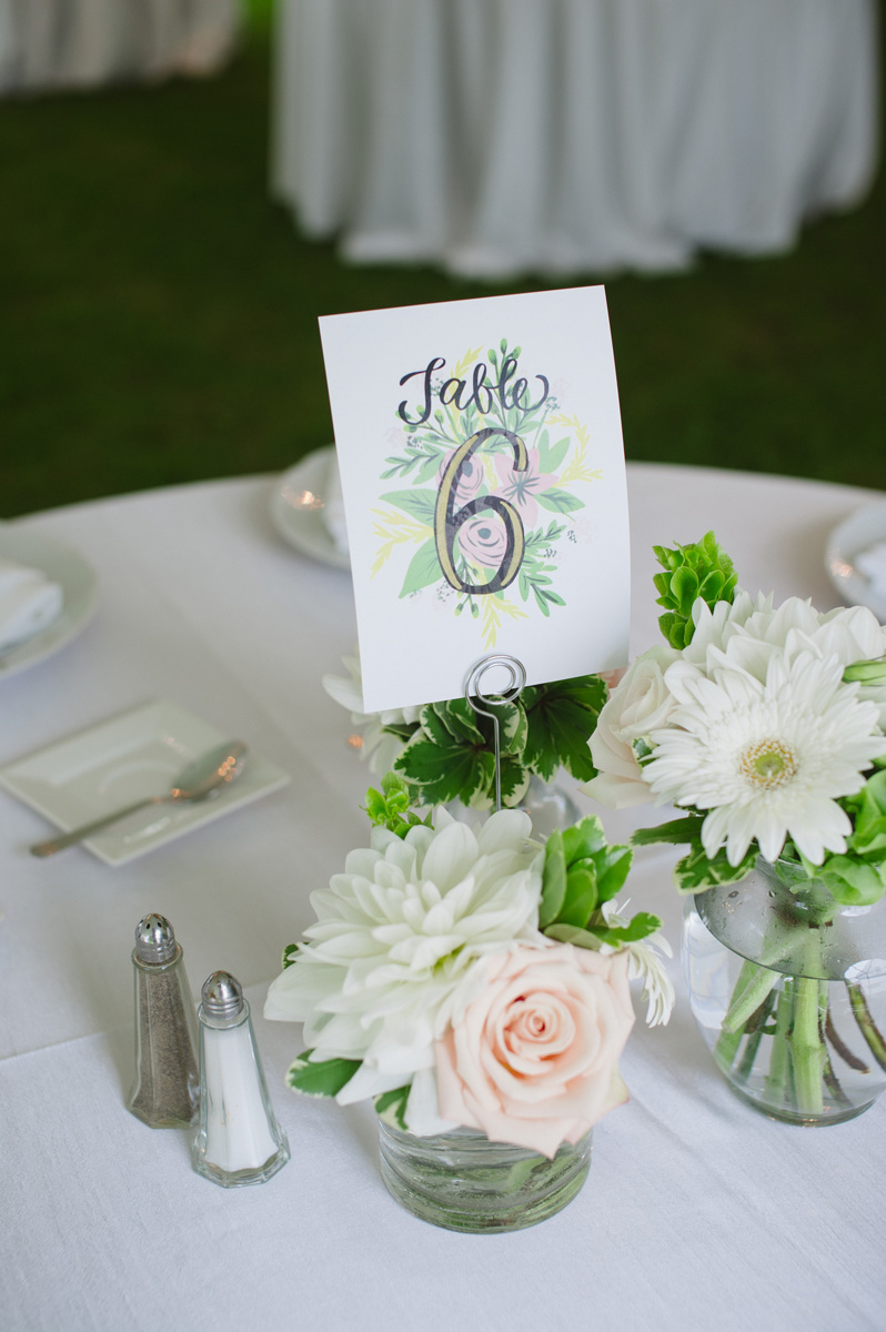 Custom illustrated table numbers. See more at Rebecca Chan Weddings and Events http://www.rebeccachan.ca