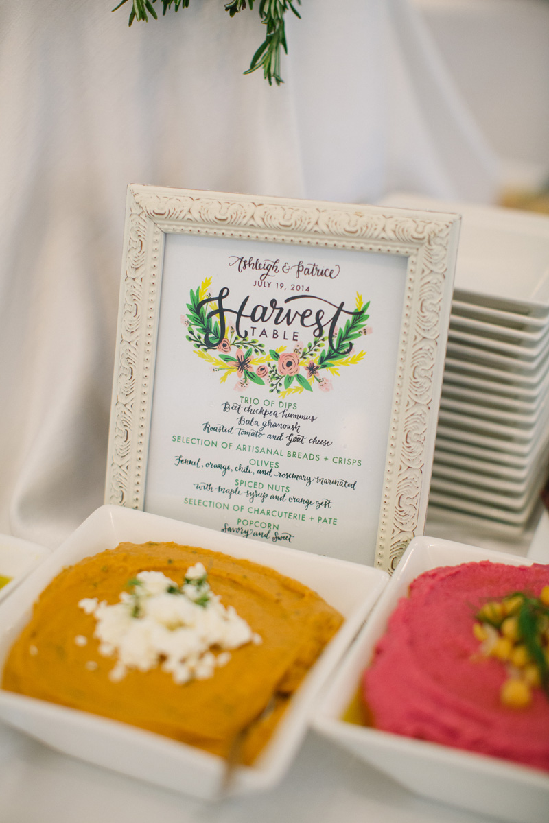 Custom illustrated sign for the couple's harvest table. See more at Rebecca Chan Weddings and Events http://www.rebeccachan.ca