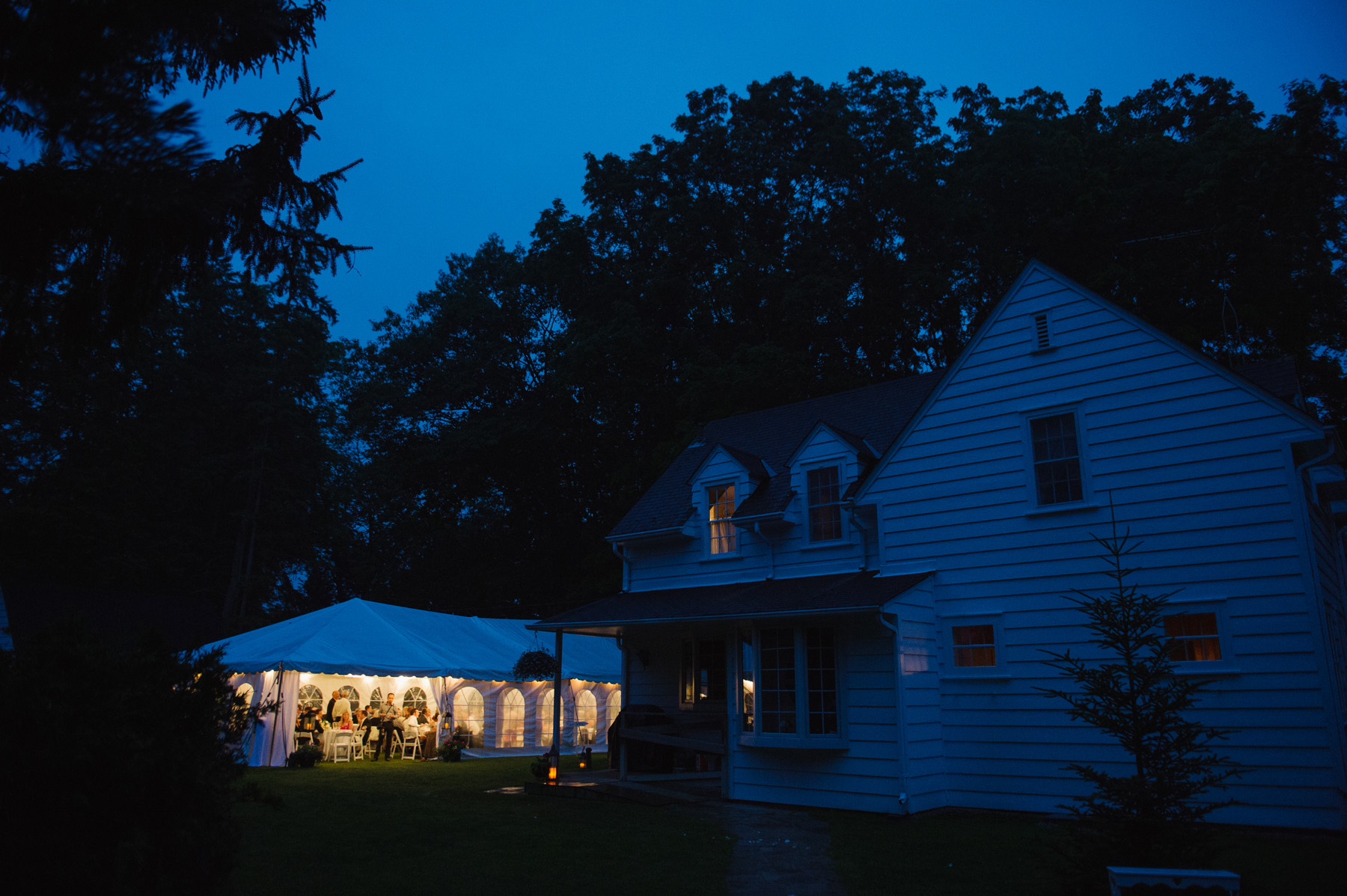 Backyard tented Ontario wedding. See more at Rebecca Chan Weddings and Events http://www.rebeccachan.ca