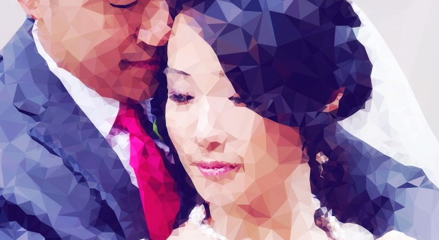 Bespoke Geometric Wedding Portrait