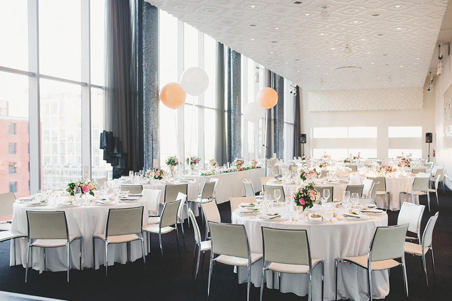 Modern pink and gold wedding at Malaparte