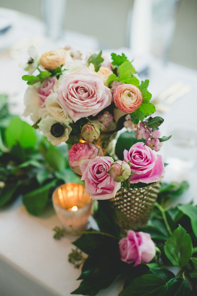 Modern gold and pink wedding at Malaparte