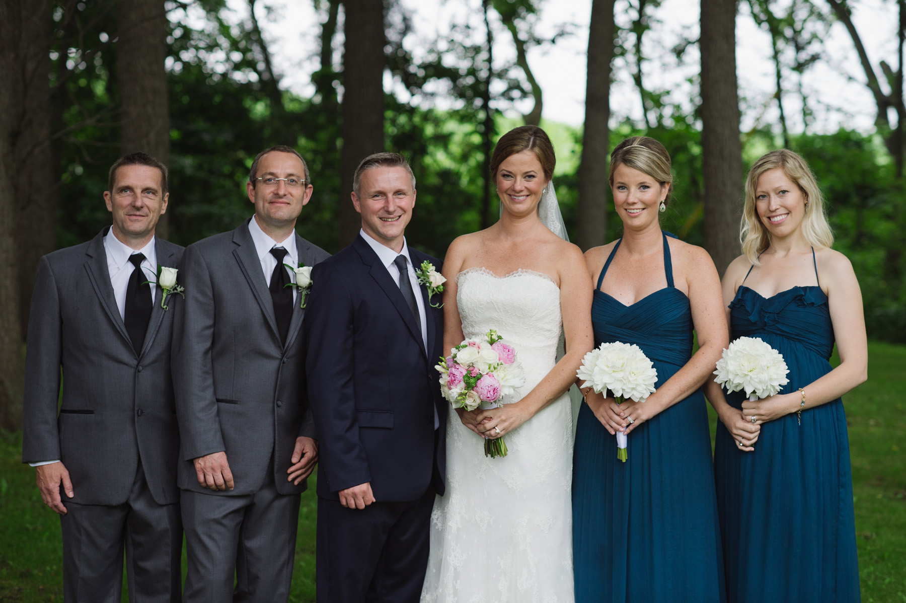 Bride and groom with their wedding party. See more at Rebecca Chan Weddings and Events http://www.rebeccachan.ca