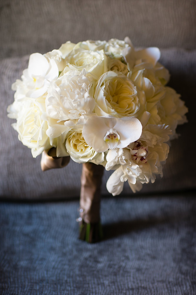 Classic ivory and champagne bride's bouquet. See more at Rebecca Chan Weddings and Events http://www.rebeccachan.ca