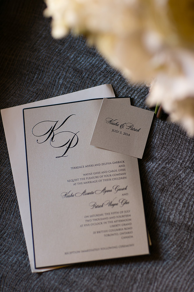 Classic ivory and champagne wedding invitation at Liberty Grand. See more at Rebecca Chan Weddings and Events http://www.rebeccachan.ca