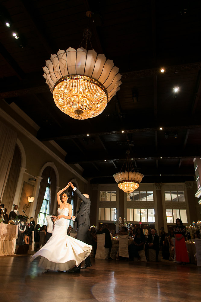 Classic ivory and champagne wedding first dance at Liberty Grand. See more at Rebecca Chan Weddings and Events http://www.rebeccachan.ca