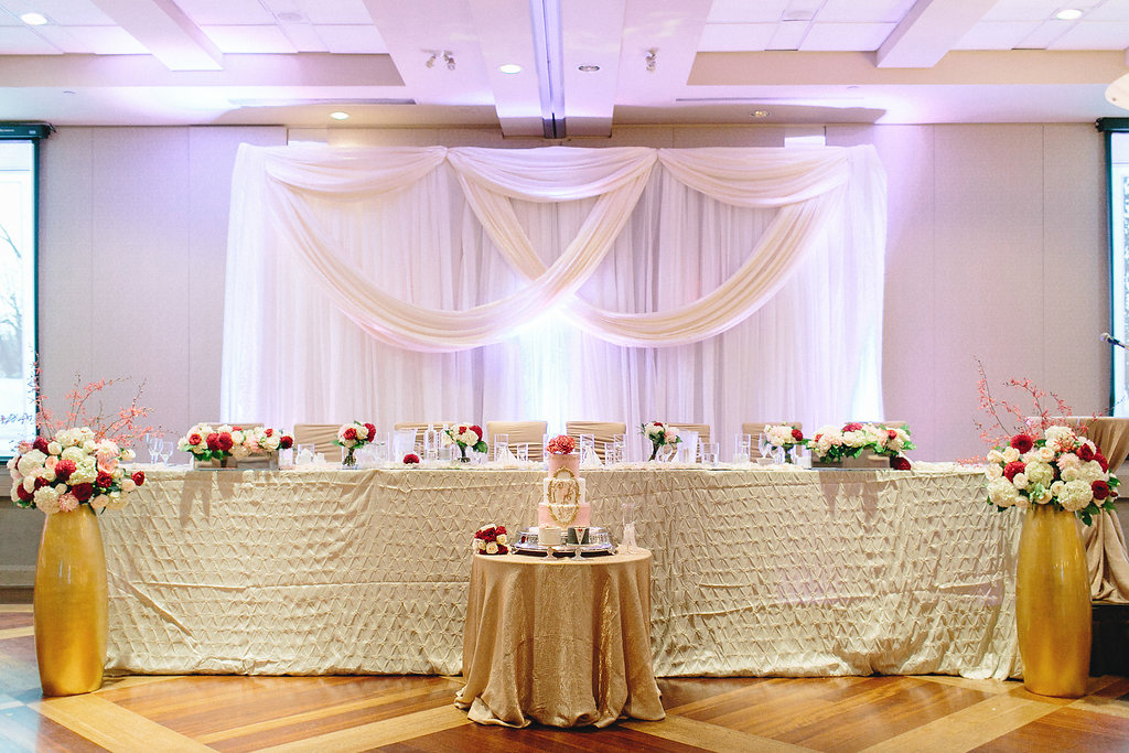 Pink Red And Gold Modern Chinese Wedding Head Table To See More Visit