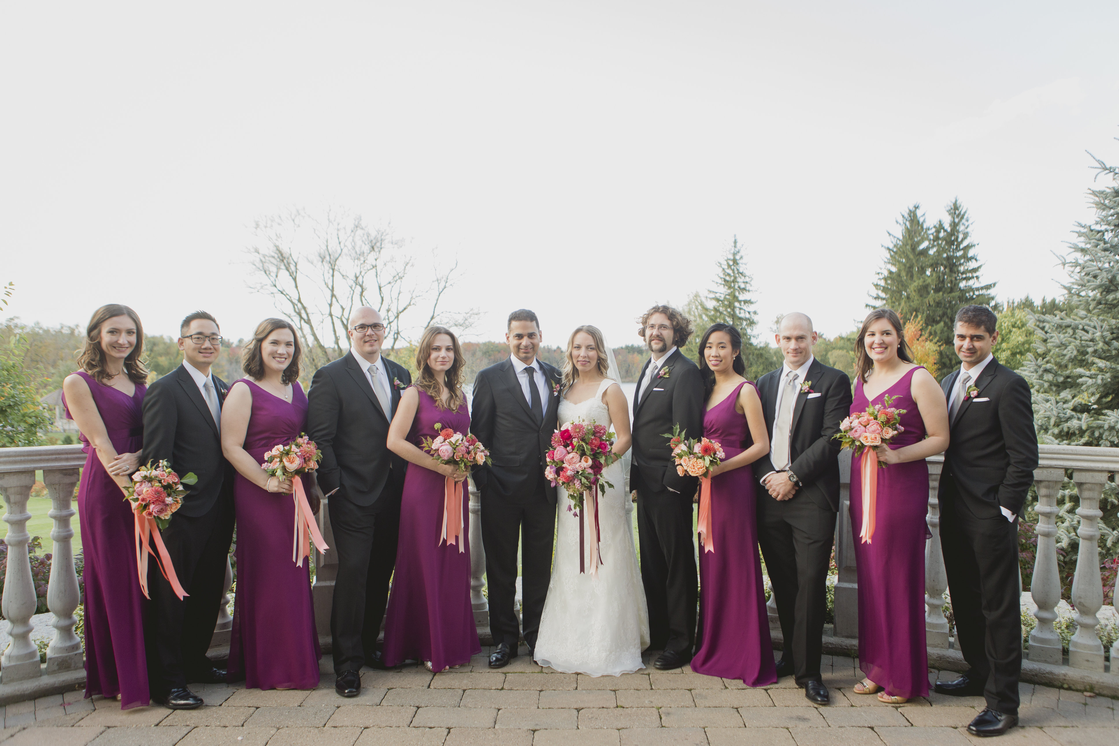 Romantic cranberry and blush wedding. See more at Rebecca Chan Weddings and Events http://www.rebeccachan.ca