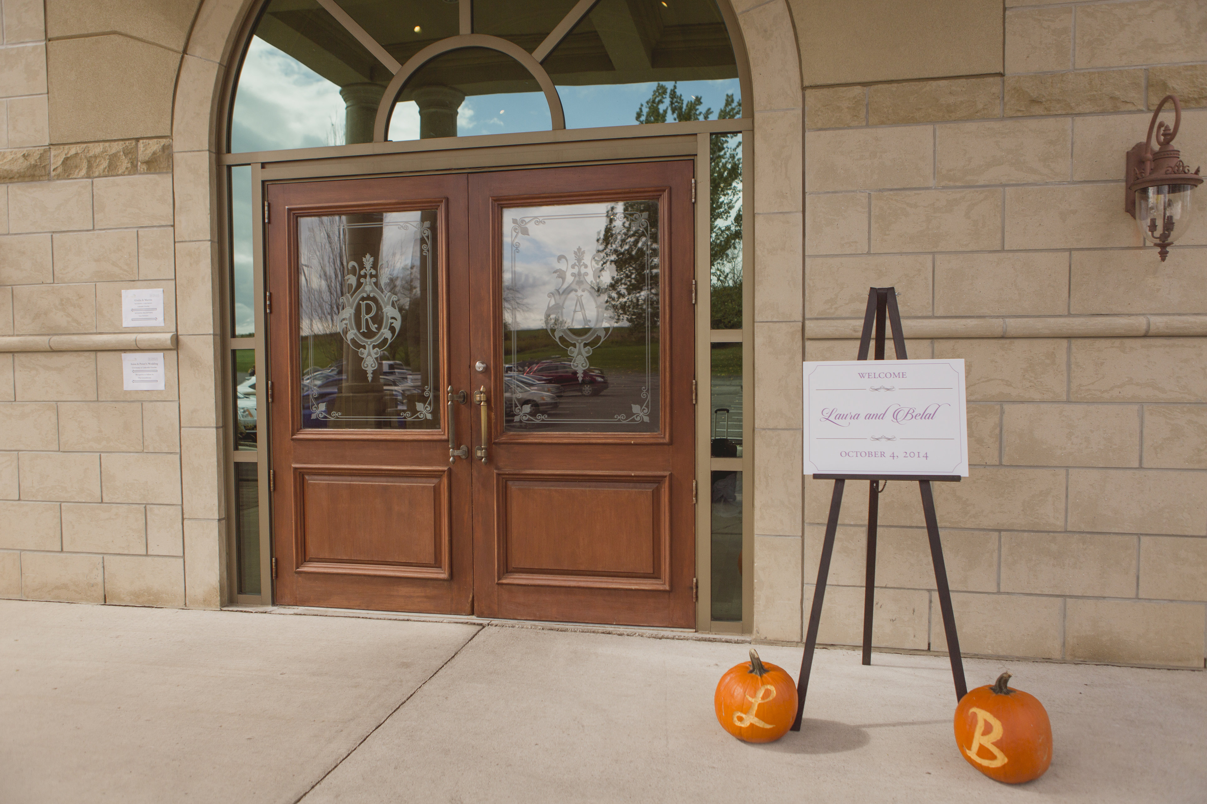 Modern fall wedding with pumpkins. See more at Rebecca Chan Weddings and Events http://www.rebeccachan.ca