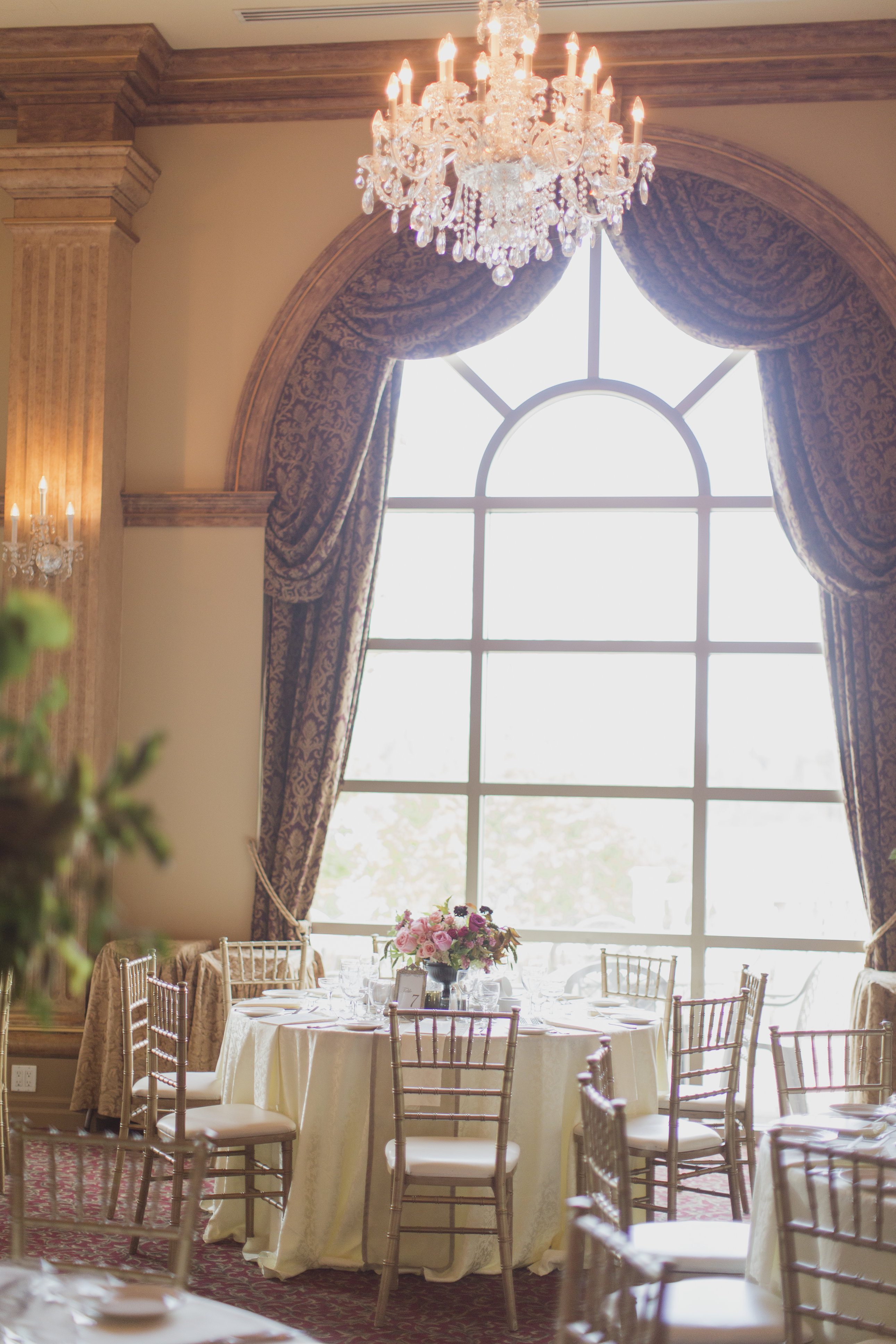Romantic cranberry, gold and blush wedding. See more at Rebecca Chan Weddings and Events http://www.rebeccachan.ca