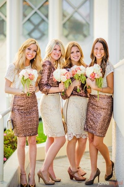 Bridesmaid dress trends for modern weddings - sparkly dresses