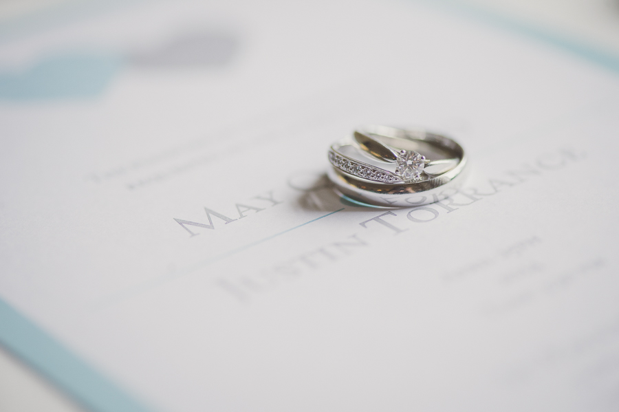 Tiffany-blue inspired wedding invitation and wedding rings. See more at Rebecca Chan Weddings and Events http://www.rebeccachan.ca