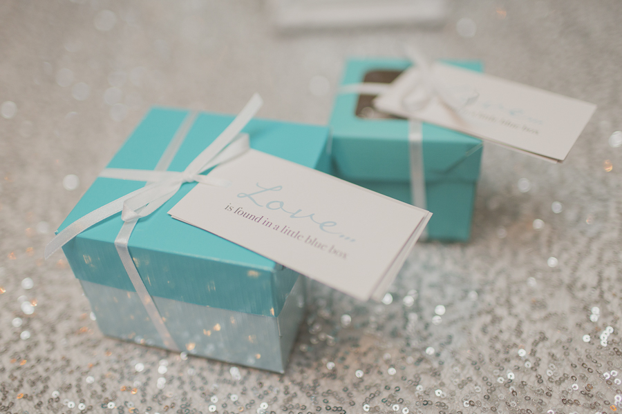 Tiffany-inspired favours - Love is found in a little blue box. See more at Rebecca Chan Weddings and Events http://www.rebeccachan.ca