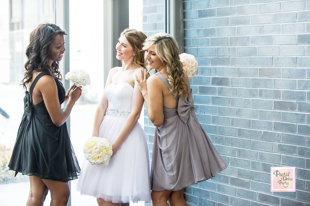 Bridesmaid dress trends for modern weddings - Different colour but same style