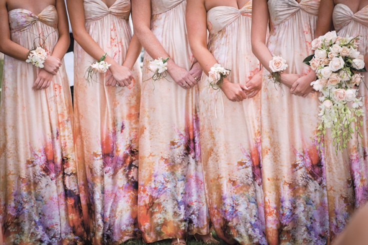 Bridesmaid dress trends for modern weddings - floral