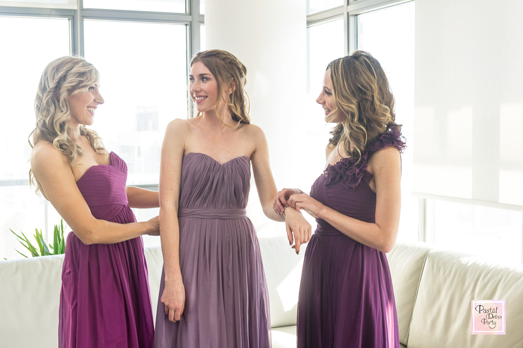 Bridesmaid dress trends for modern weddings - Same colour but different style