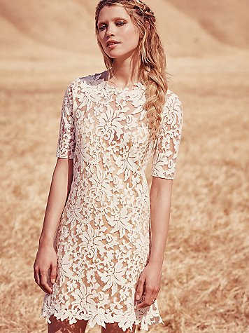 Free People Wedding Line - Lucia Mini Dress. As seen on Rebecca Chan Weddings and Events www.rebeccachan.ca