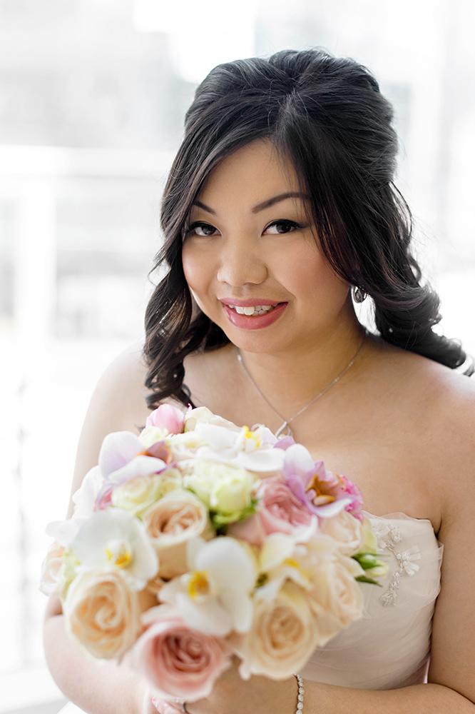 Cherry Blossom Wedding at Shangri-La Hotel Toronto - Bride