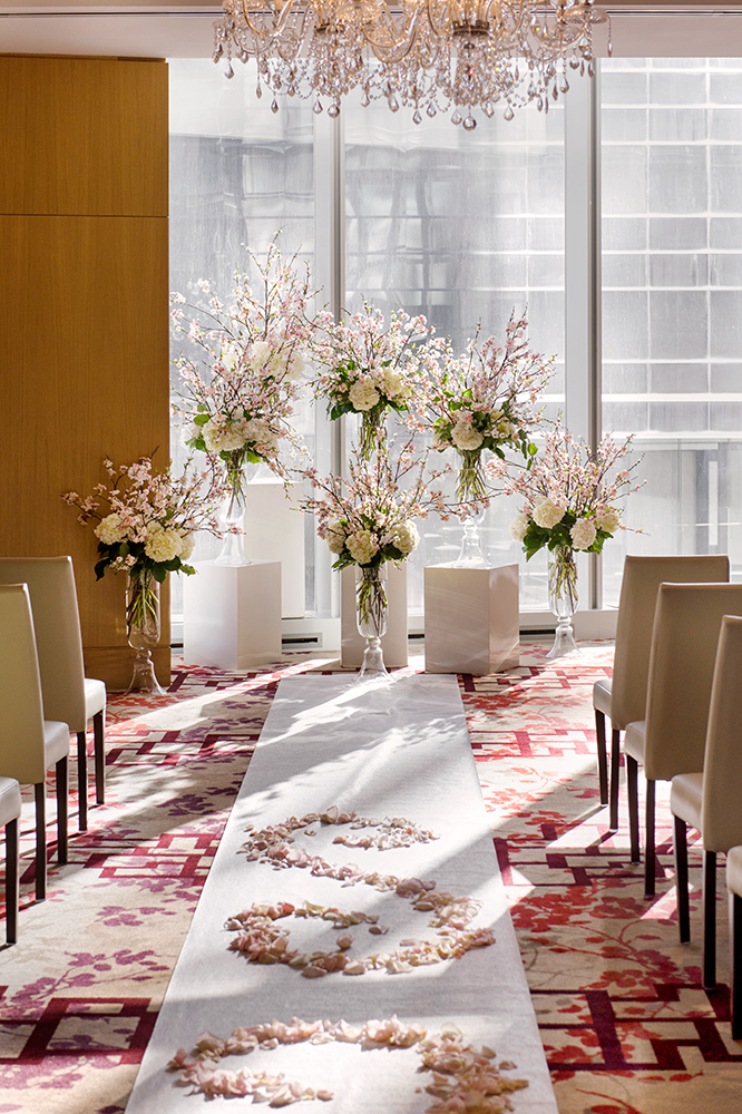 Cherry Blossom Wedding at Shangri-La Hotel Toronto - Wedding Ceremony