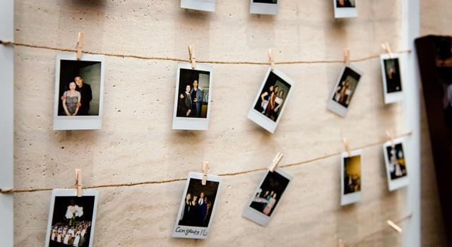 Cherry Blossom Wedding at Shangri-La Hotel Toronto - Polaroids of guests