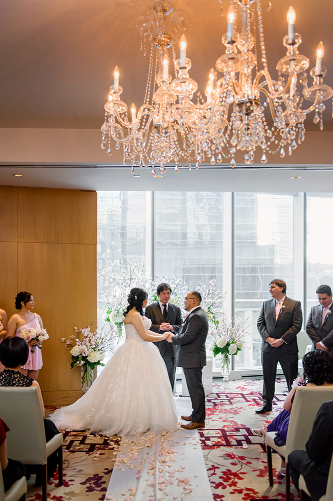 Shangri La Hotel Toronto Wedding With Cherry Blossoms