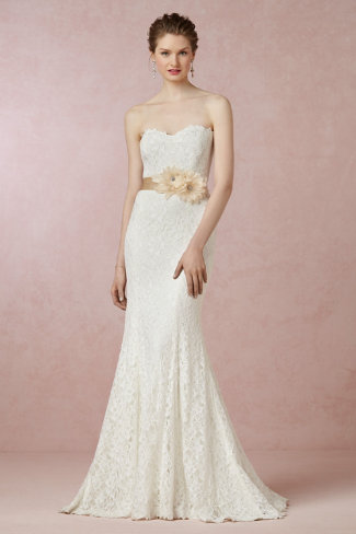 BHLDN Seraphina Lace Gown. See more on Rebecca Chan Weddings and Events www.rebeccachan.ca