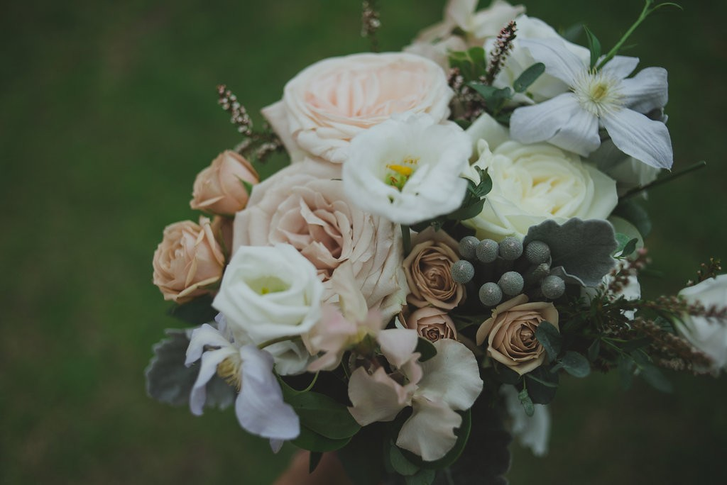 Bride's bouquet from Coriander Girl. Classy Malaparte Wedding. Rebecca Chan Weddings and Events www.rebeccachan.ca